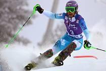 Šárka Záhrobská ve slalomu SP v Levi.