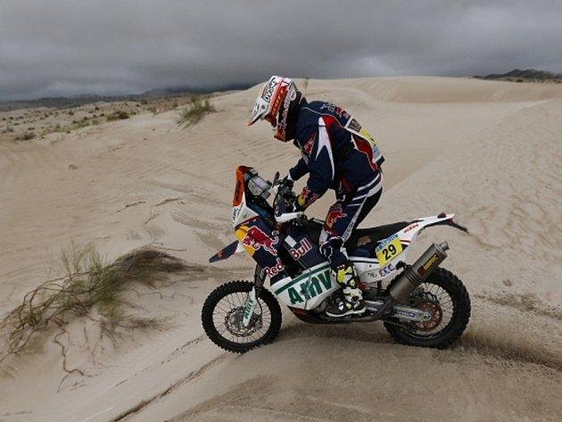Motocyklista Kurt Caselli.