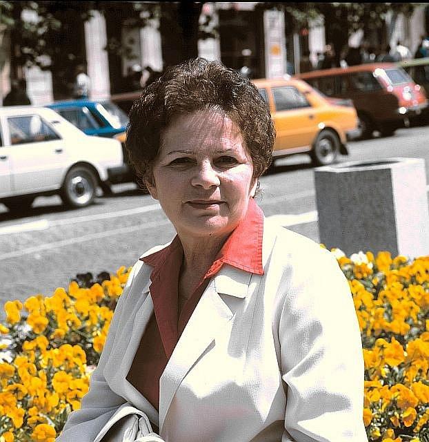 Herečka Jiřina Švorcová.