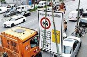 Hamburk. Zákaz vjezdu dieselových aut nesplňujících normu Euro 6.