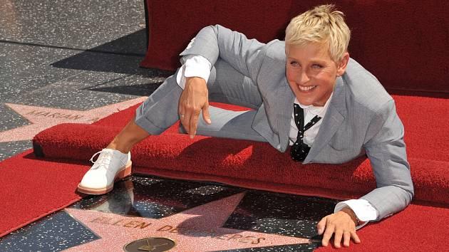 Ellen DeGeneres má i svou hvězdu na chodníku slávy na Hollywood Boulevard.