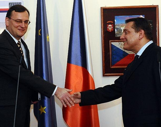 Petr Nečas a Jiří Paroubek