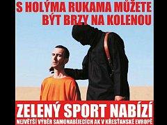 Kontroverzní reklama firmy Zelený sport.