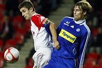 Slavia v Gambrinus lize hostila Olomouc.