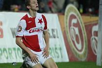 Tomáš Necid v dresu Slavie ještě v roce 2008