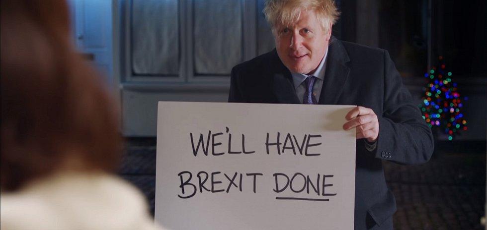 Britský premiér Boris Johnson v předvolebním spotu