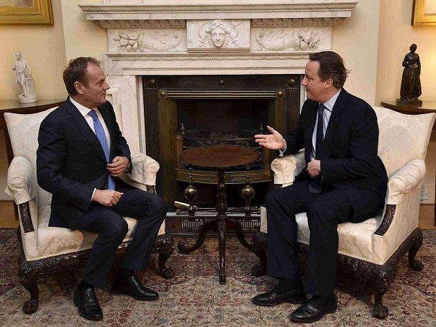 Donald Tusk a David Cameron.