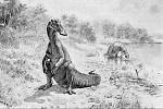Hadrosaurus ve starší umělecké představě