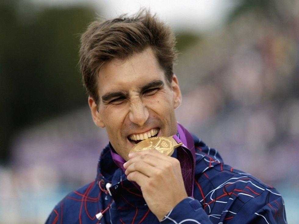 Moderní pětibojař David Svoboda s olympijským zlatem.
