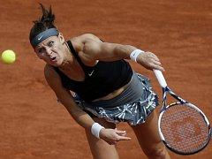 Lucie Šafářová na Roland Garros.