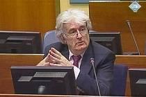 Radovan Karadzic před soudem v Haagu