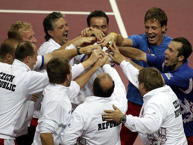 Čeští tenisté budou bojovat o finále Davis Cupu v Poreči.