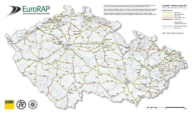 Riziková mapa ČR.
