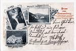 Nýznerovský vodopád, hostinec a mlýn - 1899.