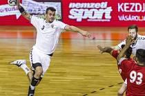 Český reprezentant Roman Bečvář při utkání s Bahrajnem.