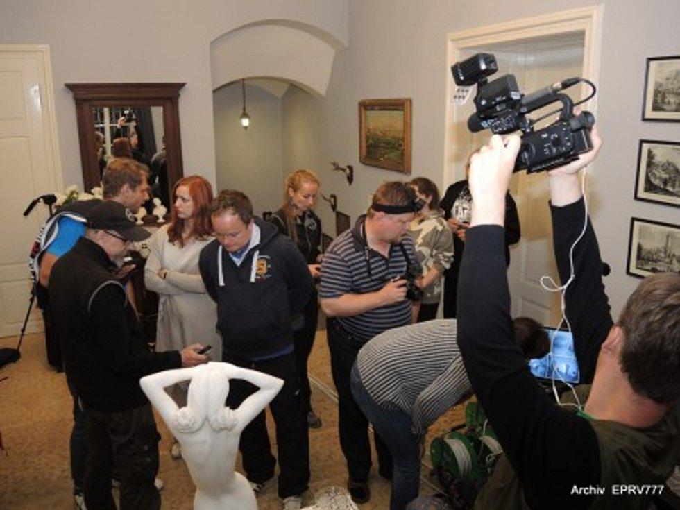 Vyšetřování na hradě Svojanov.