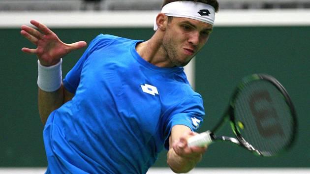 Jiří Veselý během Davis Cupu.