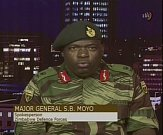 Sibusiso Moyo během prohlášení v televizi.
