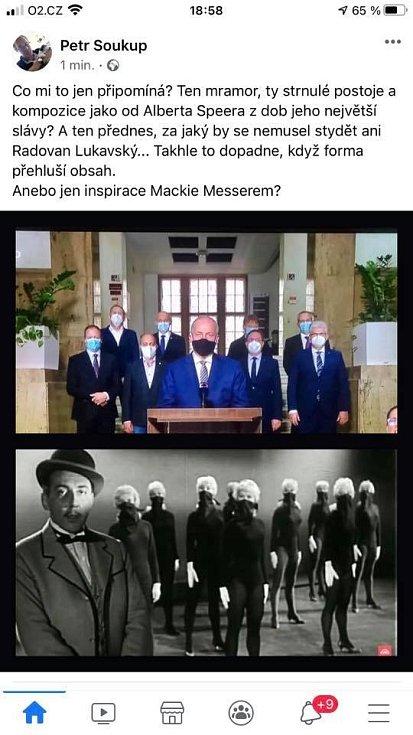 Ministr zdravotnictví Roman Prymula a Mackie Messer