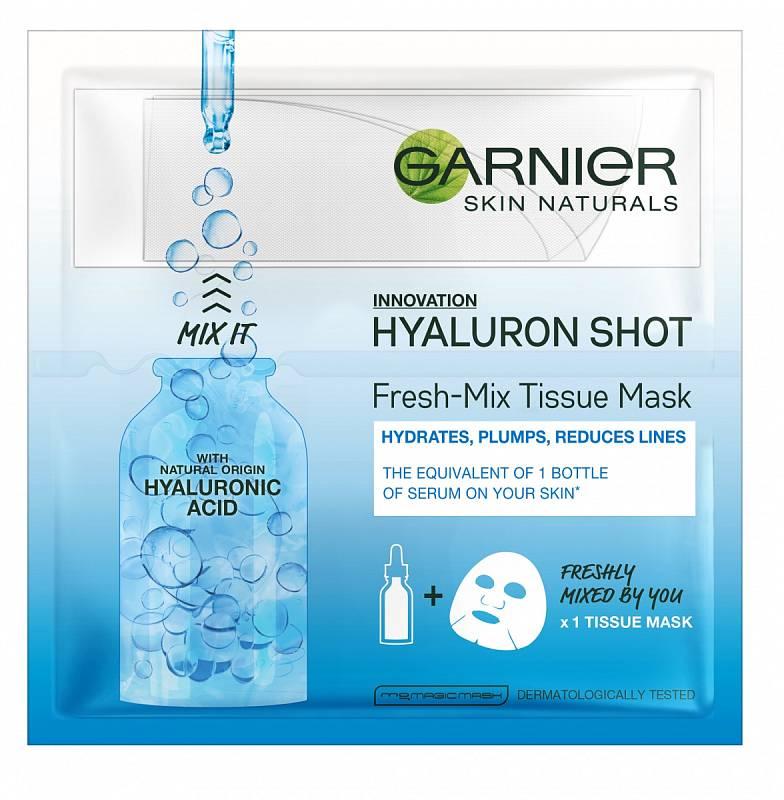 Pleťová maska Hyaluron Shot, Garnier, 80 Kč