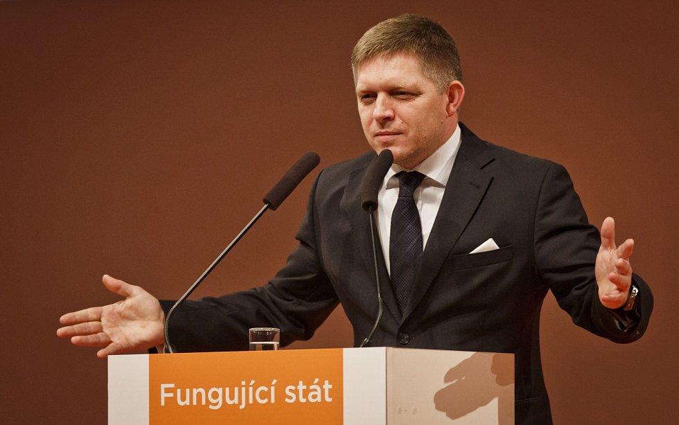 Robert Fico na sjezdu ČSSD.