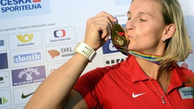 Oštěpařka Barbora Špotáková se zlatou medailí z ME.