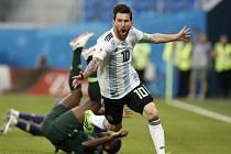 Lionel Messi výrazně pomohl k výhře Argentiny nad Nigérií.