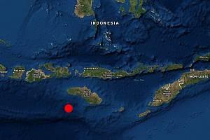 Epicentrum zemětřesení u indonéského ostrova Sumbawa