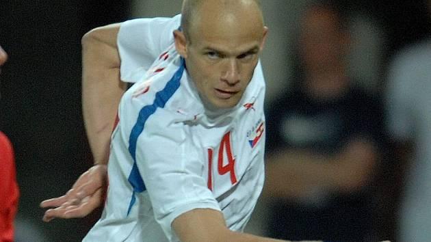 Záložník české reprezentace David Jarolím porážku s Řeckem neodvrátil.