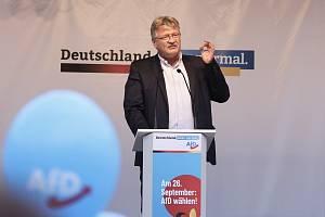 Jeden ze dvou předsedů Alternativy pro Německo Jörg Meuthen