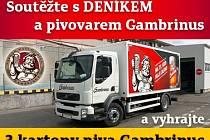 soutěžte o 3 kartony piva gambrinus