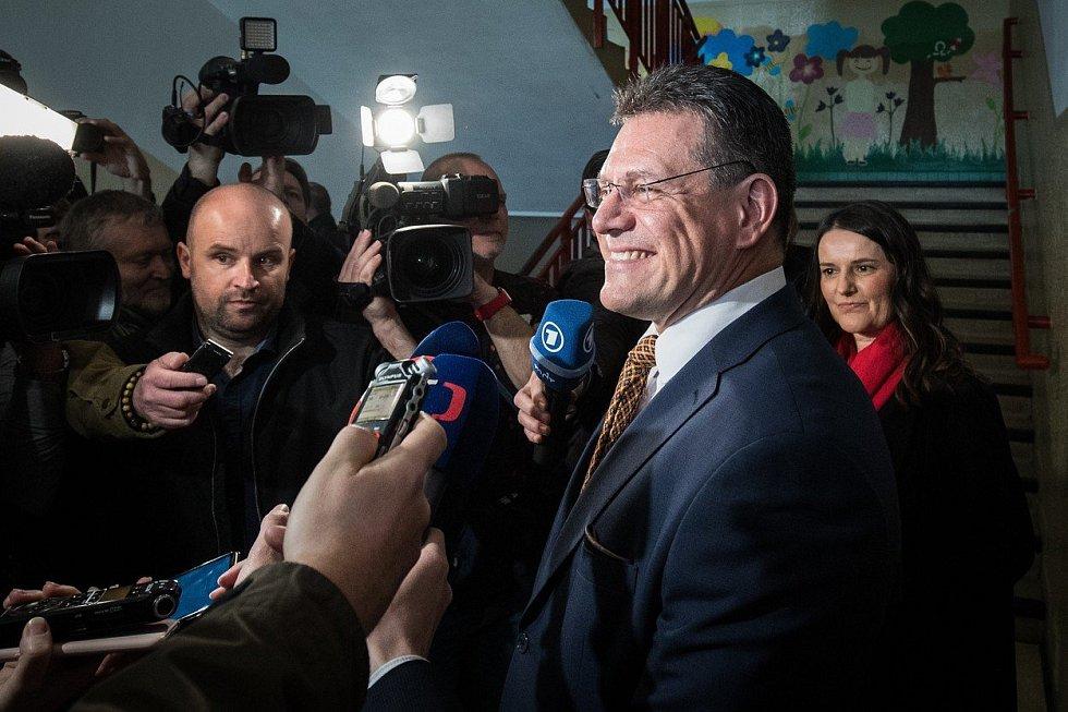 Maroš Šefčovič ve svém volebním štábu