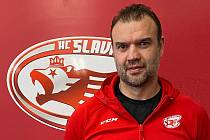 Trenér hokejové Slavie Martin Štrba.