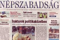 maďarský deník Népszabadság končí