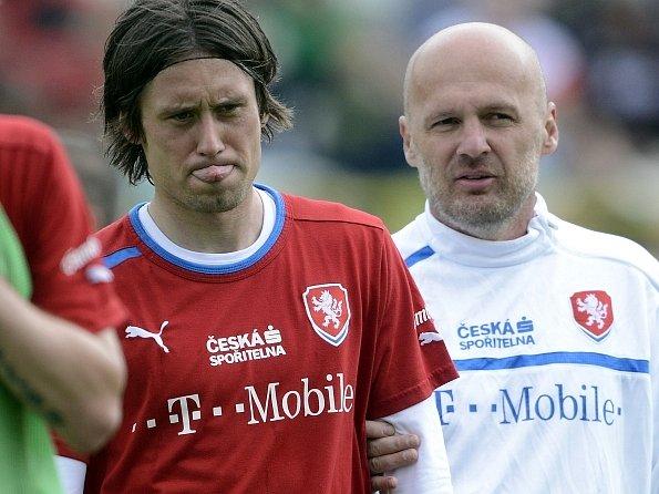 Tomáš Rosický s trenérem Michalem Bílkem.