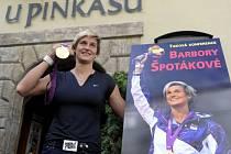 Barbora Špotáková patří U Pinkasů k tradičním štamgastům.