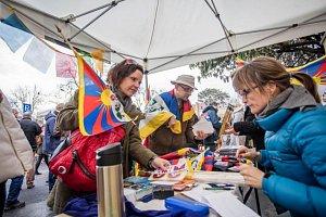 Happening na podporu Tibetu