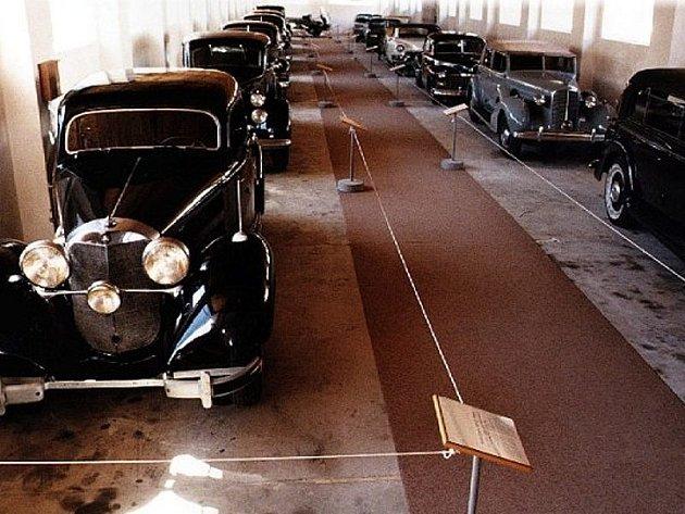 Sbírka cenných automobilů jugoslávského komunistického vůdce Josipa Tita.