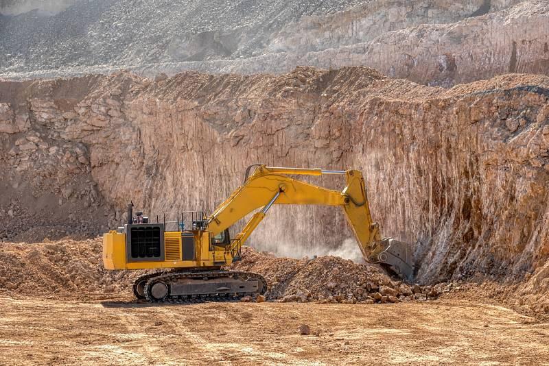 Diamantový důl v Africe