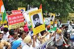 Demonstrace Sikhů na Trafalgar Square