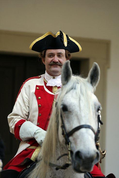 Tereziánský voják na koni.