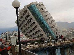 Zemětřesení na Tchaj-wanu.