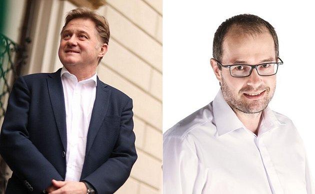 Obvod 39 - Trutnov, Jan Sobotka (STAN) vlevo, Jan Jarolím (ANO)