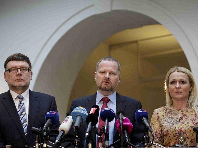 Zbyněk Stanjura, Petr Fiala a Jana Černochová