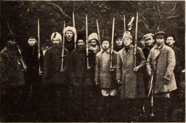 Vojáci Rudé armády v době občanské války v Rusku