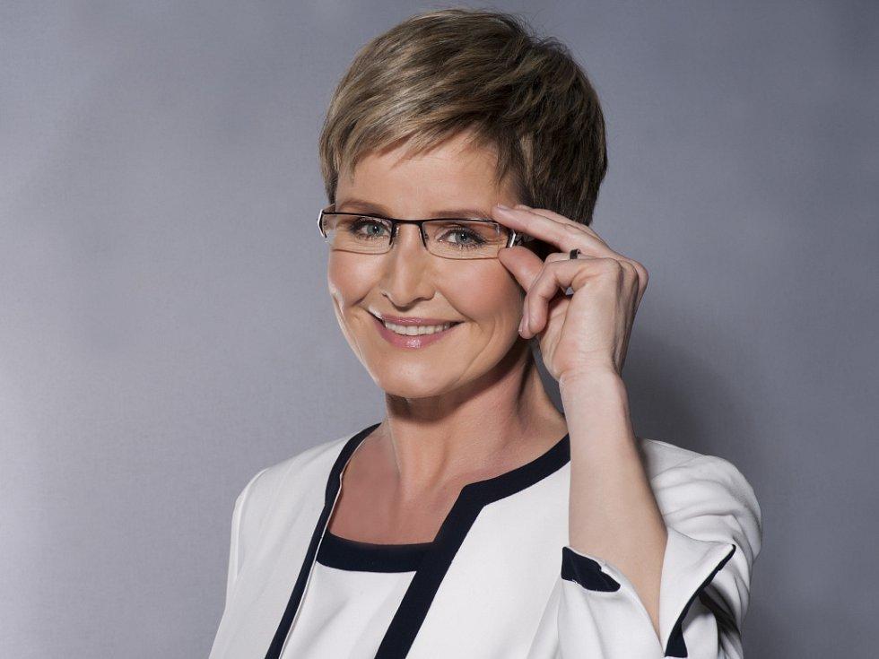 Moderátorka zpravodajství České televize Marcela Augustová.