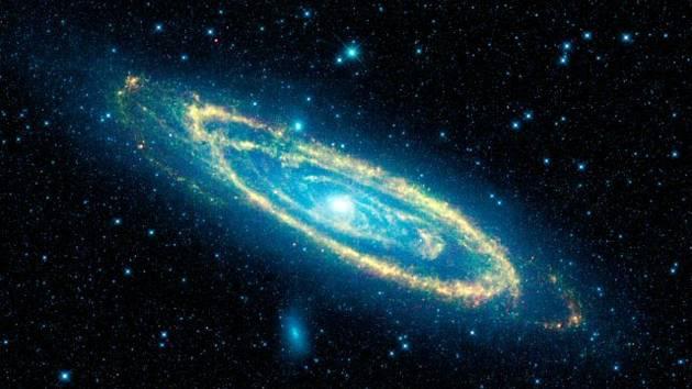 Galaxie v Andromedě, také M31, NGC 224 nebo Velká mlhovina v Andromedě