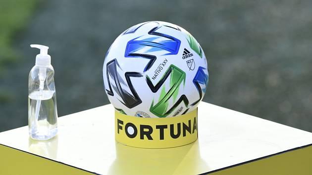 Fotbalový míč a dezinfekce. Ilustrační foto