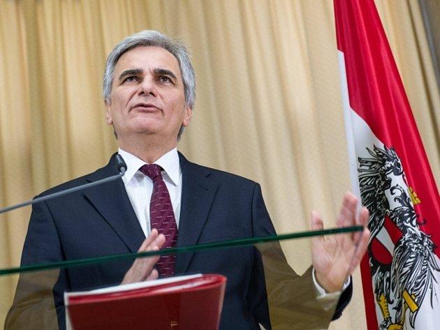 Předseda SPÖ a dosavadní kancléř Werner Faymann.
