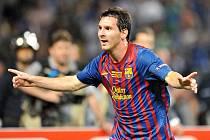 Hvězda Barcelony Lionel Messi se raduje z gólu proti Portu.
